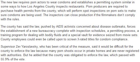 Kondompflicht für Porno-Industrie
